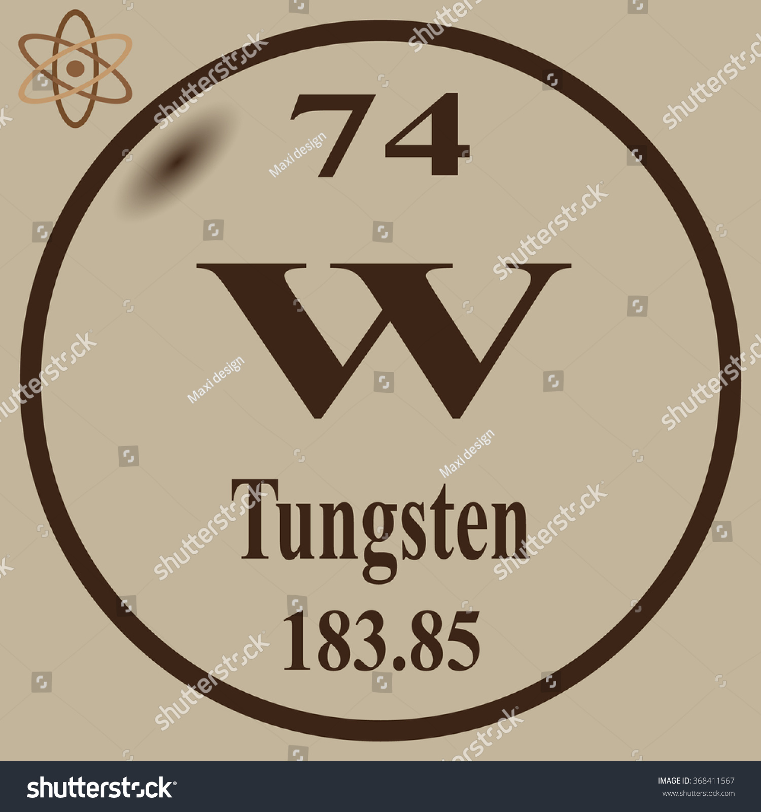 Periodic table elements tungsten stock vector 368411567 shutterstock periodic table of elements tungsten urtaz Choice Image