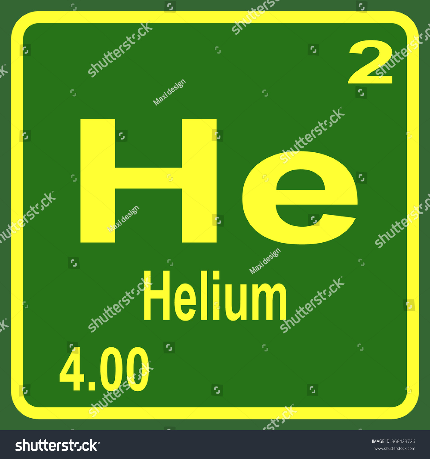 Periodic Table Elements Helium Stock Vector 368423726 - Shutterstock