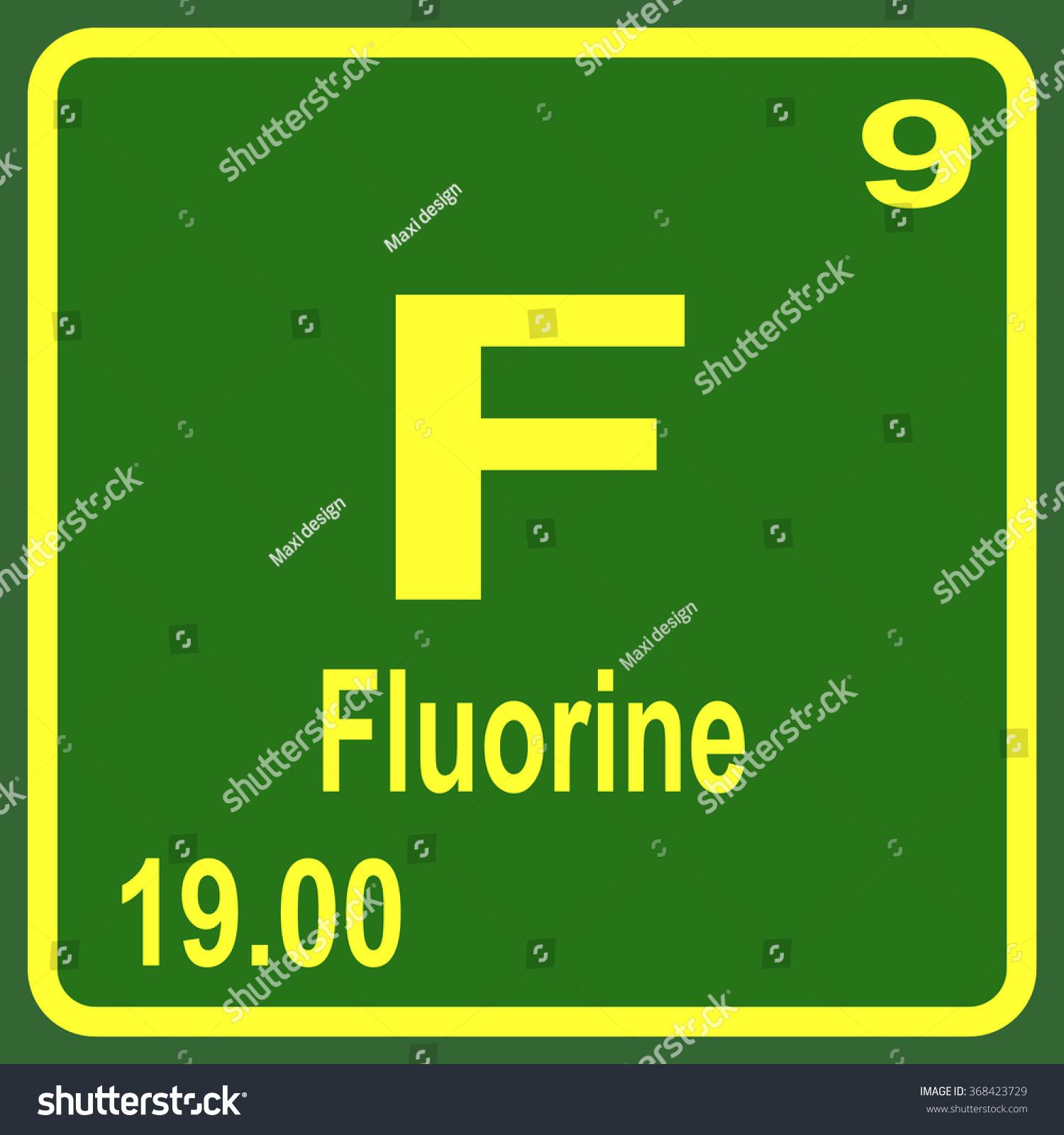 Periodic table elements fluorine stock vector 368423729 shutterstock periodic table of elements fluorine gamestrikefo Gallery