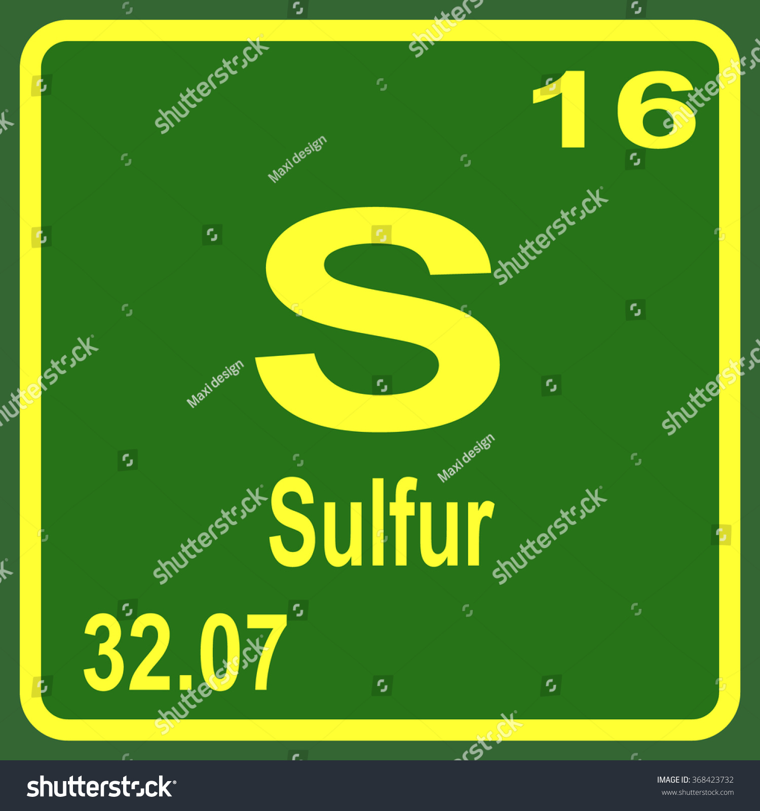 Periodic table elements sulfur stock vector 368423732 shutterstock periodic table of elements sulfur gamestrikefo Image collections