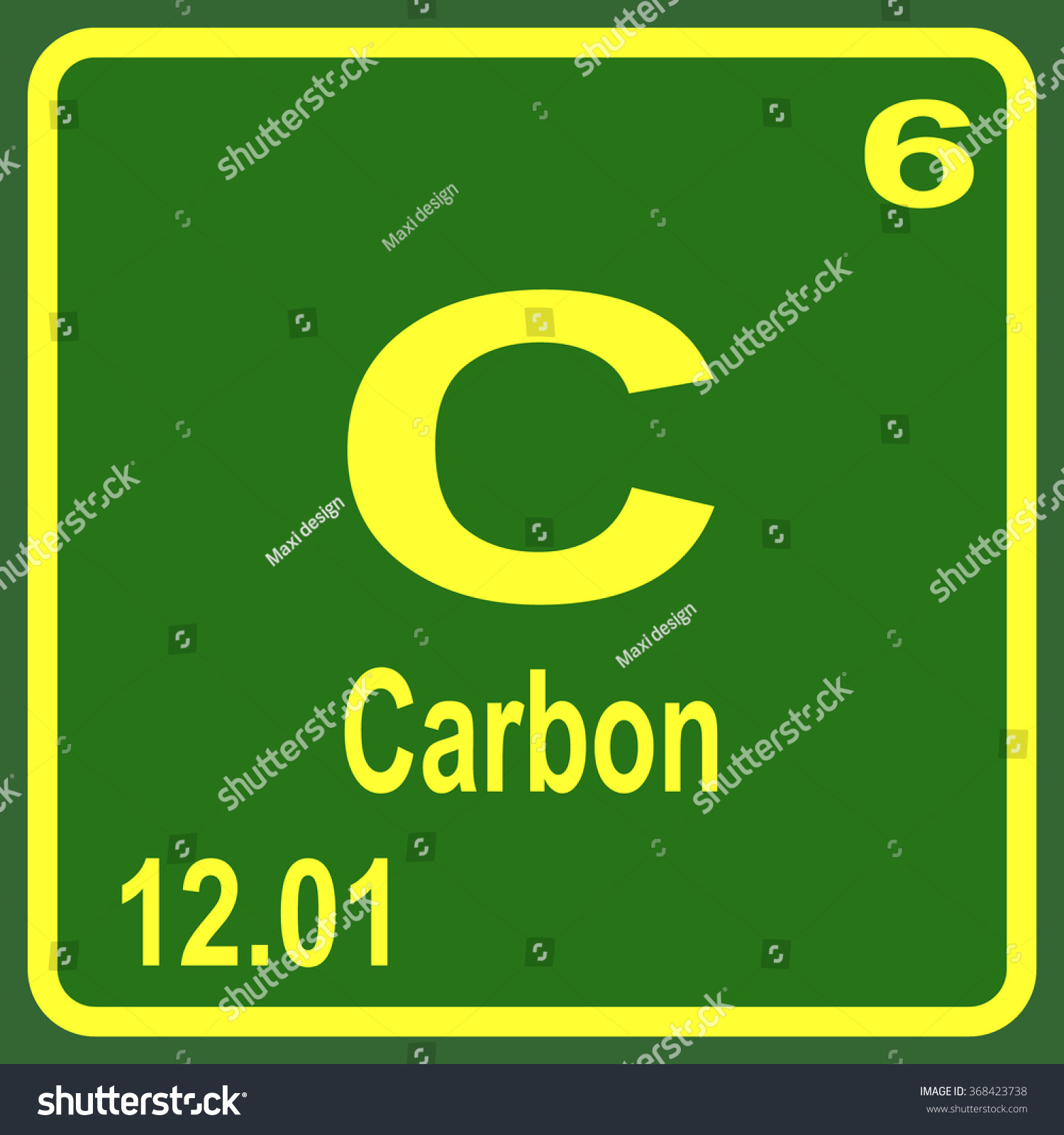 Periodic table elements carbon stock vector 368423738 shutterstock urtaz Gallery