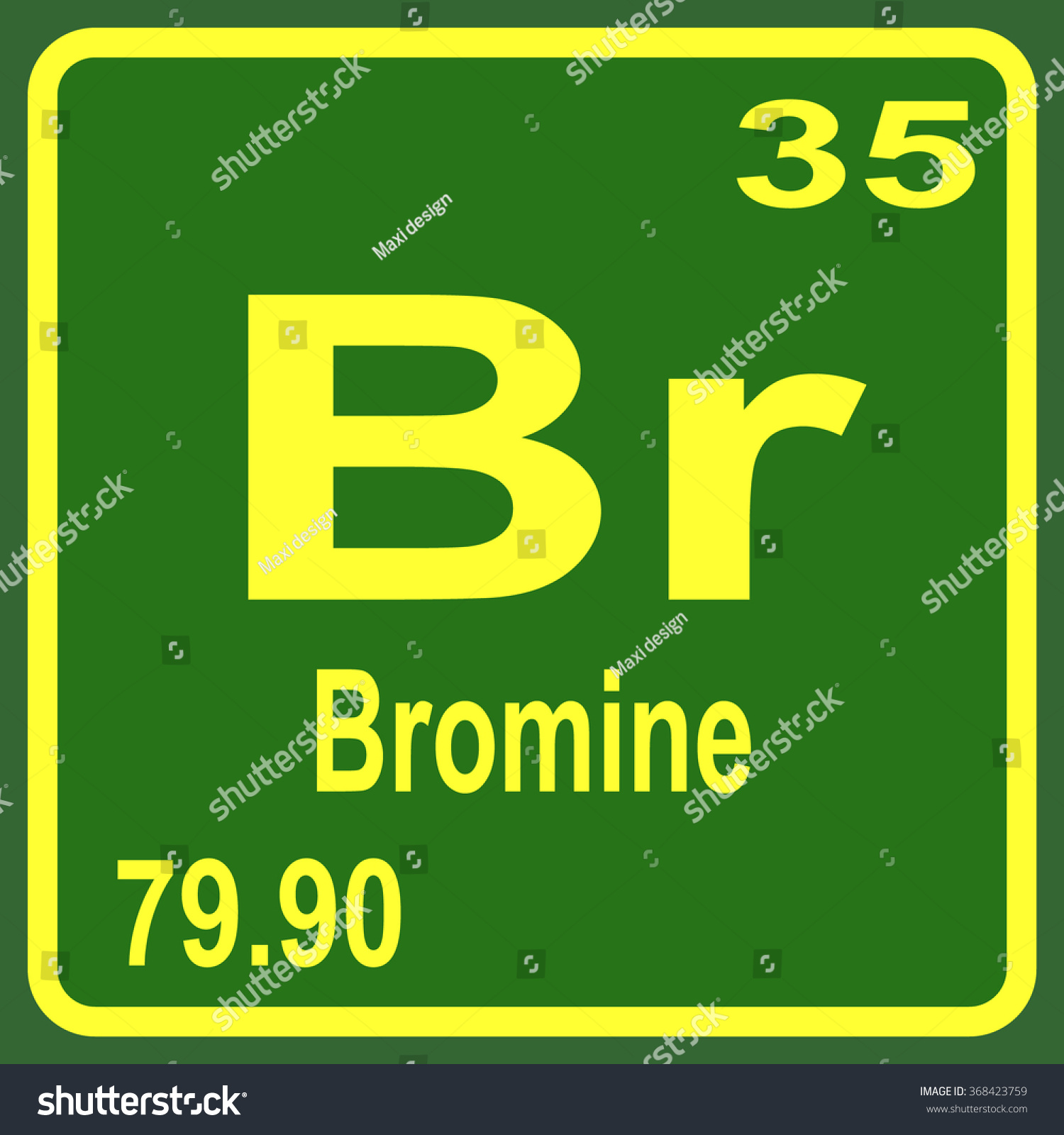 Periodic table elements bromine stock vector 368423759 shutterstock periodic table of elements bromine gamestrikefo Image collections
