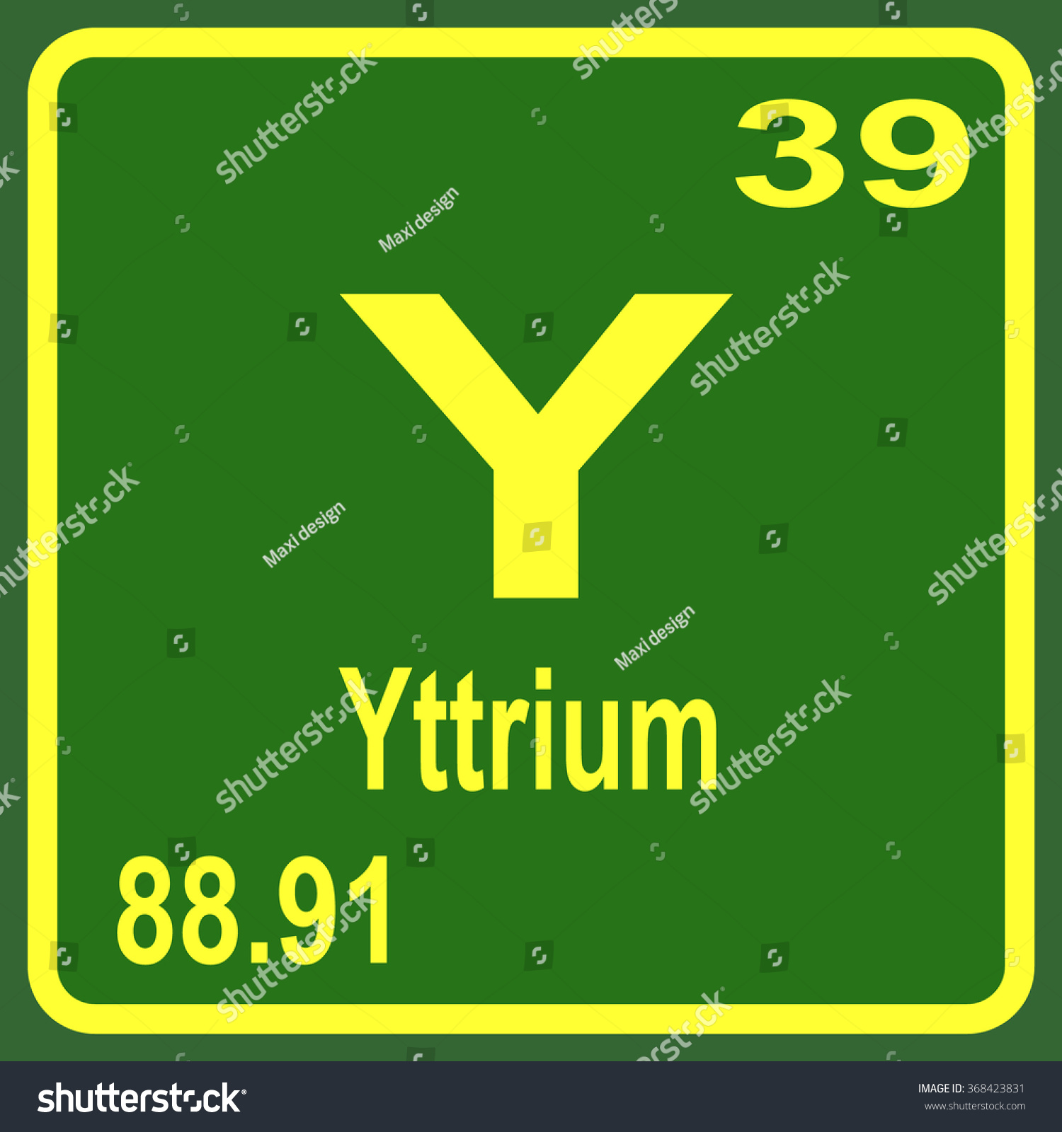 Periodic Table Elements Yttrium Stock Vector 368423831 ...