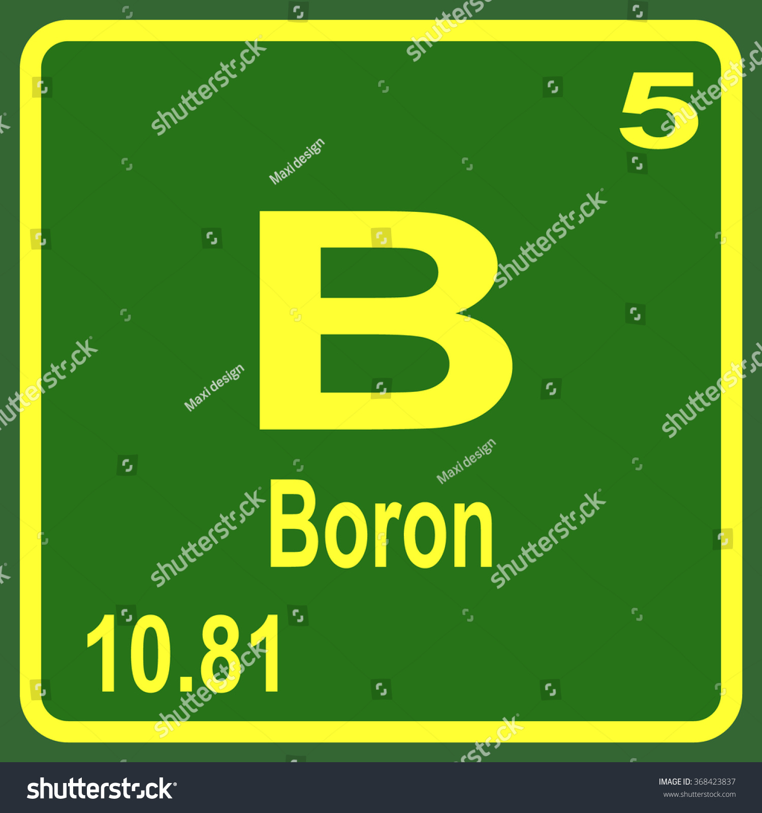Periodic table elements boron stock vector 368423837 shutterstock periodic table of elements boron gamestrikefo Image collections