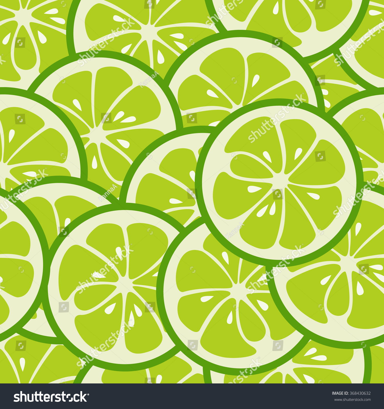 Cute Seamless Pattern With Green Lime Slices. Tasty Summer Background. Yummy Tropical ...