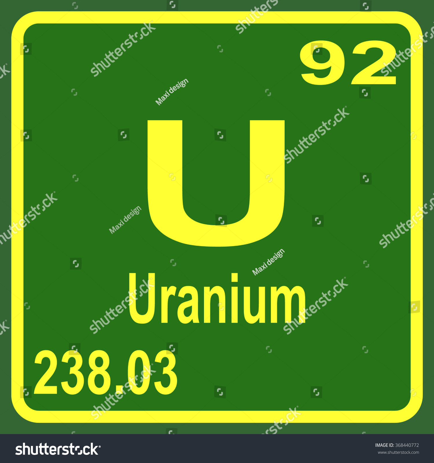 Periodic table elements uranium stock vector 368440772 shutterstock periodic table of elements uranium gamestrikefo Image collections