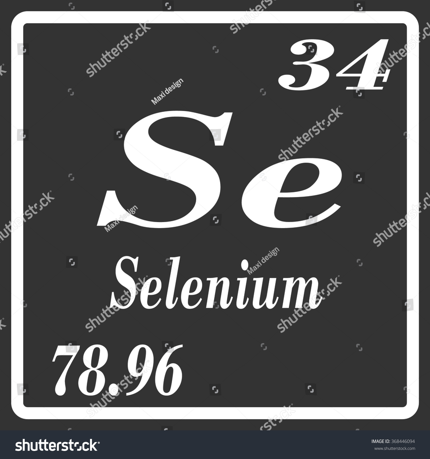 Periodic table elements selenium stock vector 368446094 shutterstock periodic table of elements selenium gamestrikefo Images
