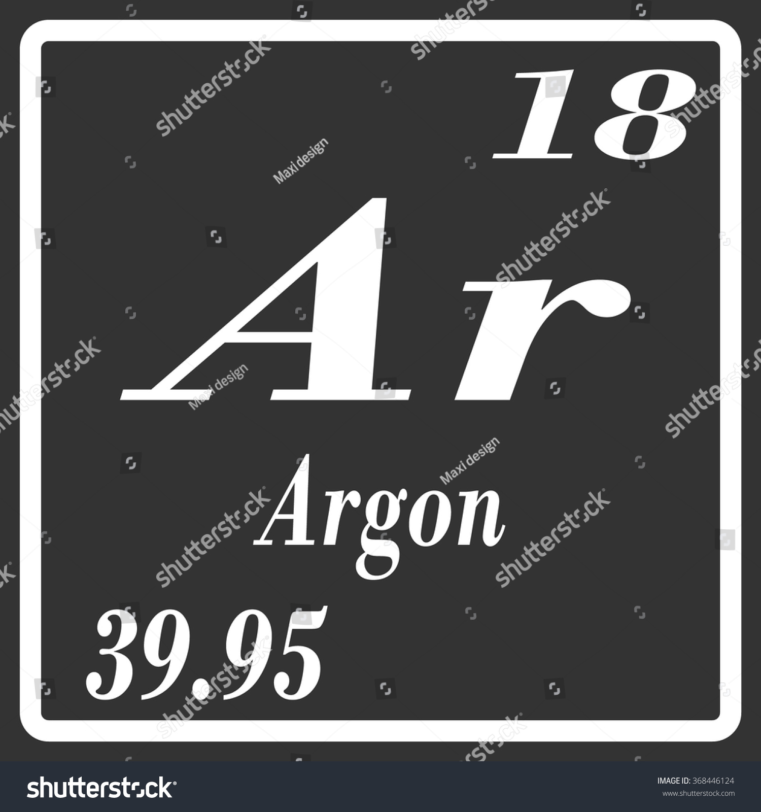 Periodic table elements argon stock vector 368446124 shutterstock periodic table of elements argon gamestrikefo Choice Image