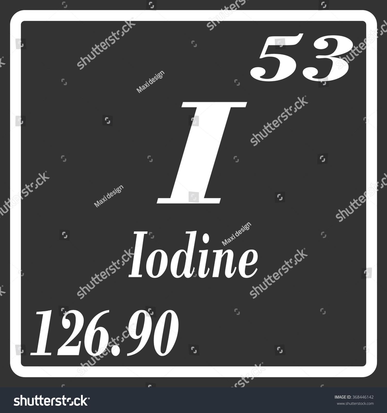 Periodic Table Elements Iodine Stock Vector Royalty Free 368446142