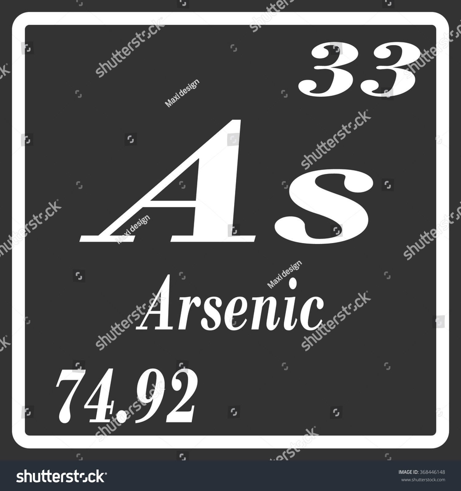 Periodic table elements arsenic stock vector 368446148 shutterstock periodic table of elements arsenic biocorpaavc Image collections