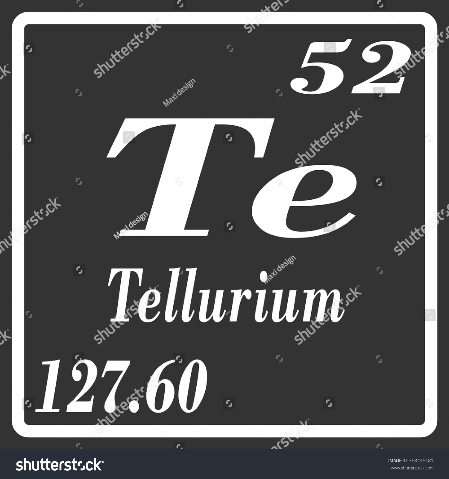 Periodic table elements tellurium stock vector 368446181 periodic table of elements tellurium gamestrikefo Choice Image