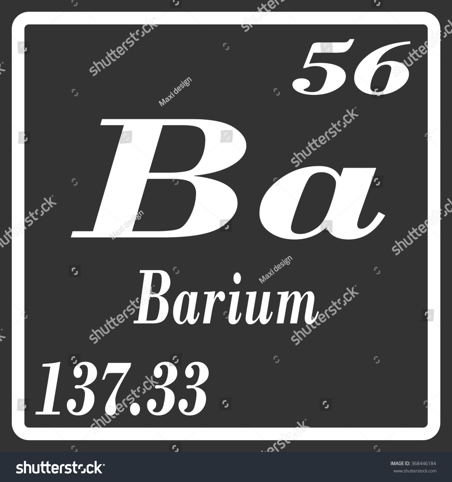 Periodic table elements barium stock vector 368446184 shutterstock periodic table of elements barium gamestrikefo Image collections