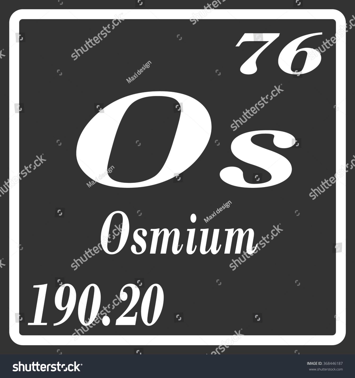Periodic table elements osmium stock vector 368446187 shutterstock periodic table of elements osmium urtaz Images