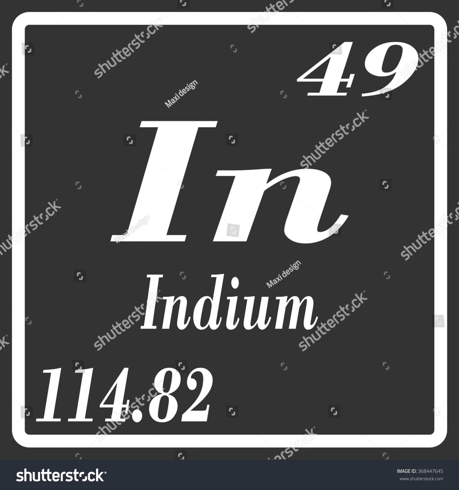 Indium periodic table gallery periodic table images periodic table elements indium stock vector 368447645 shutterstock periodic table of elements indium gamestrikefo gallery gamestrikefo Images