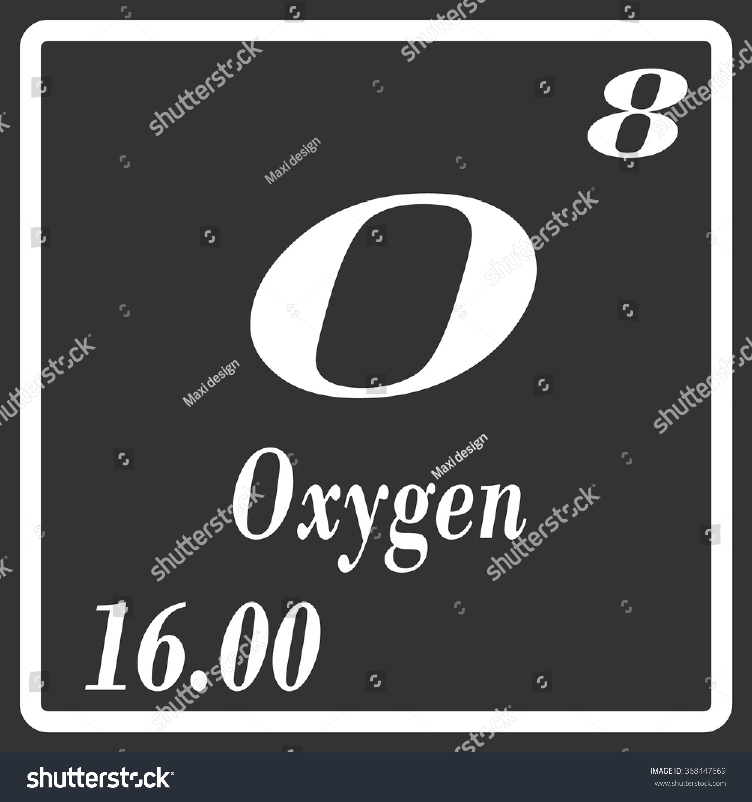 Periodic table elements oxygen stock vector 368447669 shutterstock urtaz Images