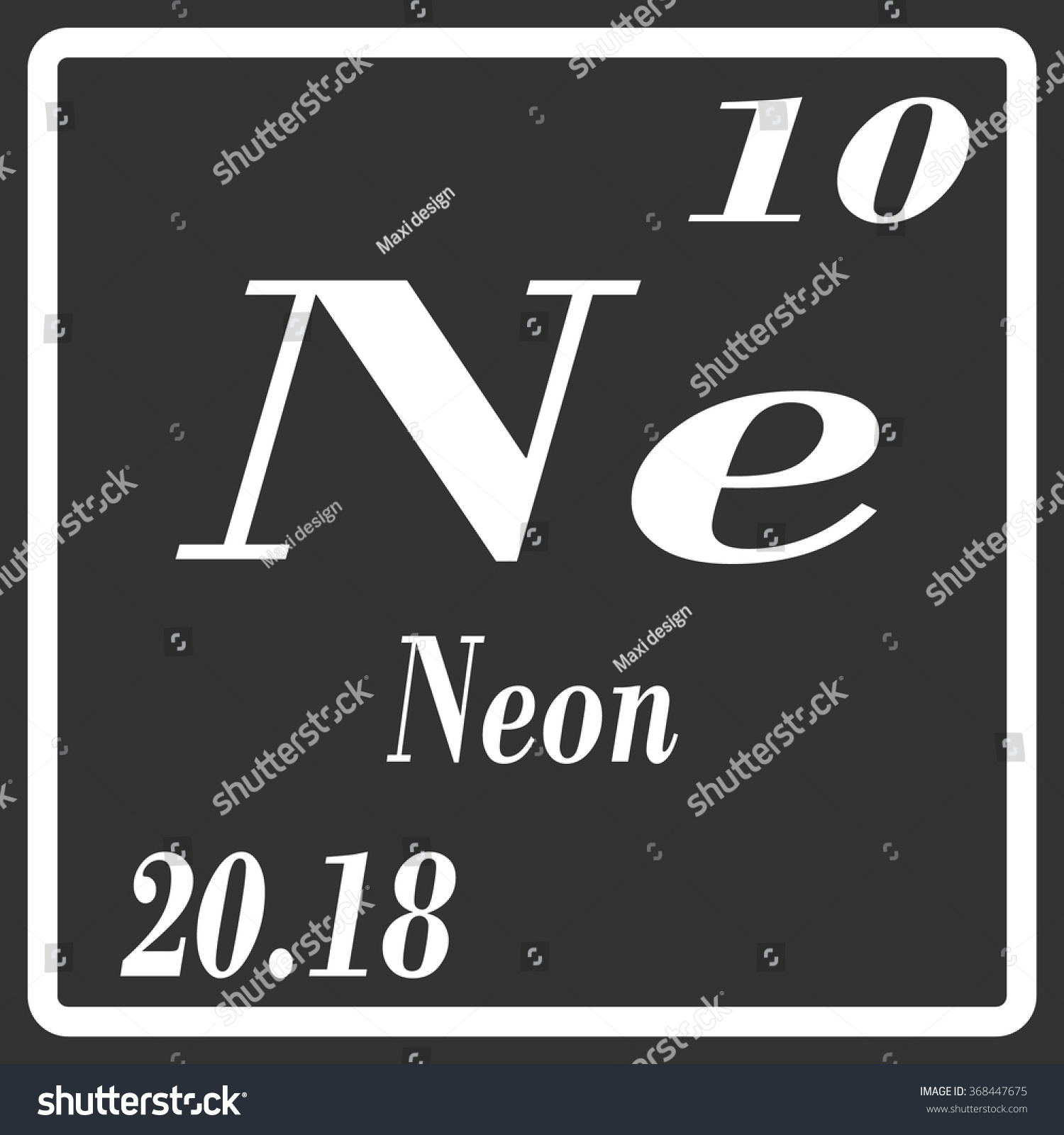 Periodic table elements neon stock vector 368447675 shutterstock periodic table of elements neon buycottarizona Images