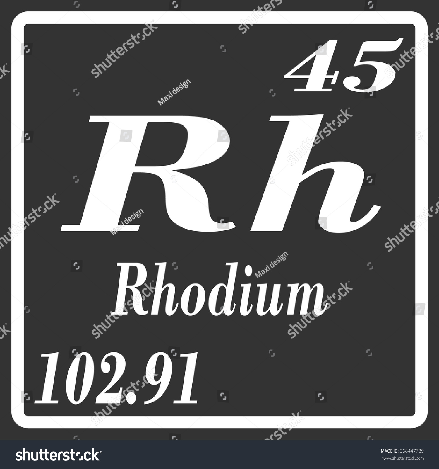 Rhodium on periodic table image collections periodic table images periodic table elements rhodium stock vector 368447789 shutterstock periodic table of elements rhodium gamestrikefo image collections gamestrikefo Image collections