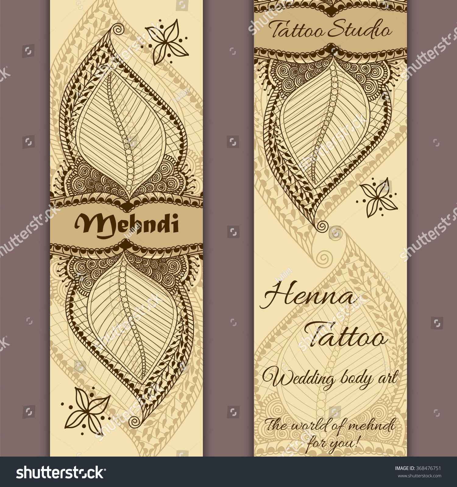 vector set banners cards indian ornamental stock vector