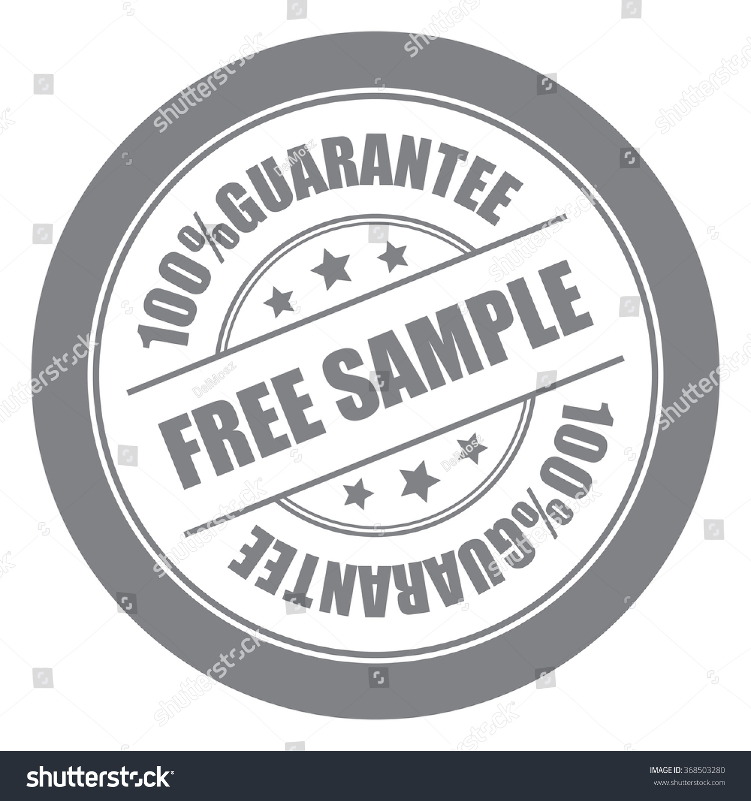Black Free Sample 100% Guarantee Campaign Promotion, Product Label,  Infographics Flat Icon,  Product Label Sample