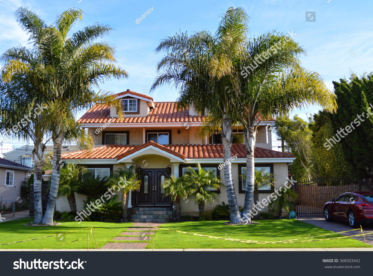 California dream houses estates los angeles stock photo for California los angeles houses