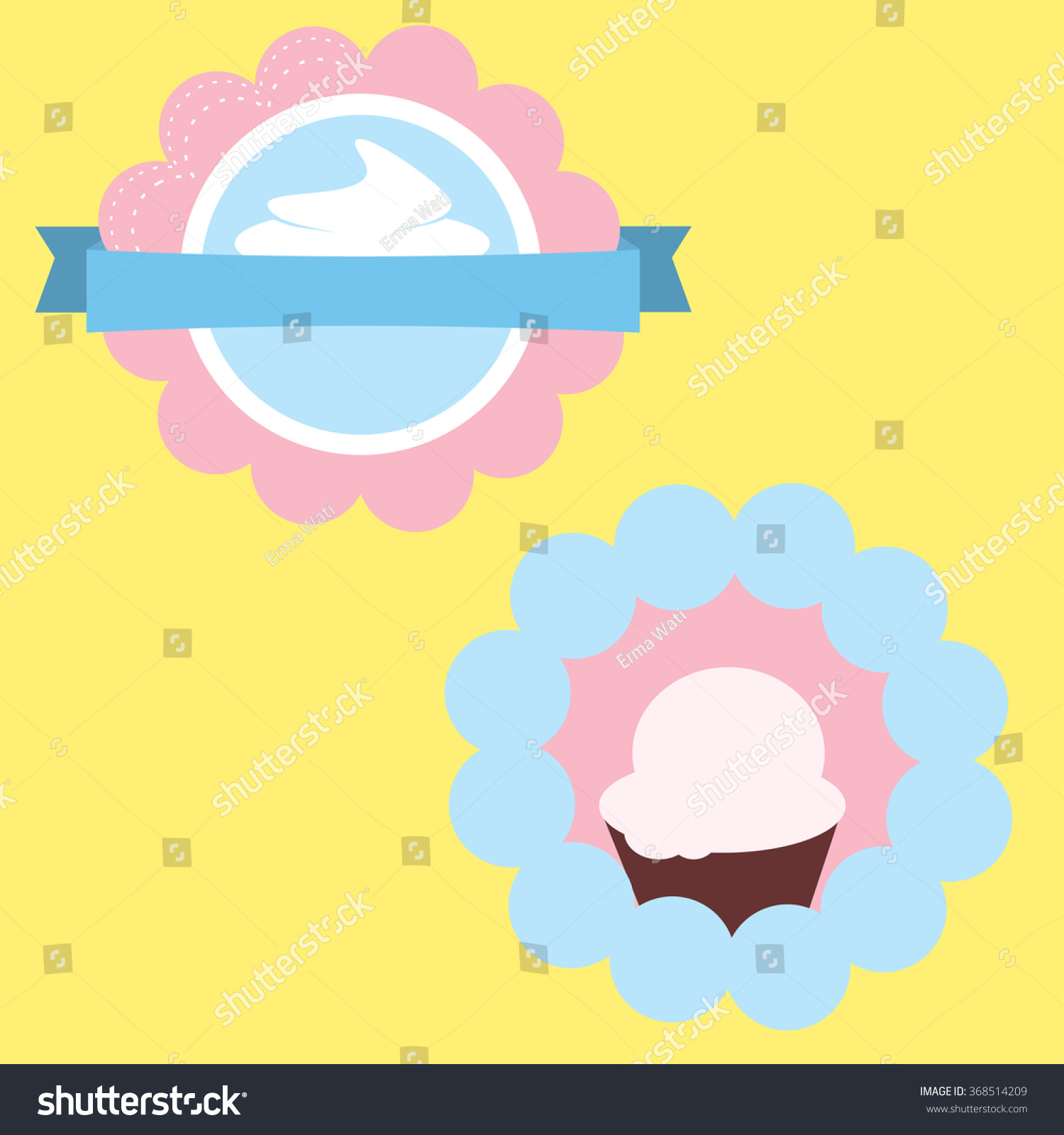 Ice Cream Label Template Stock Vector HD (Royalty Free) 368514209 ...