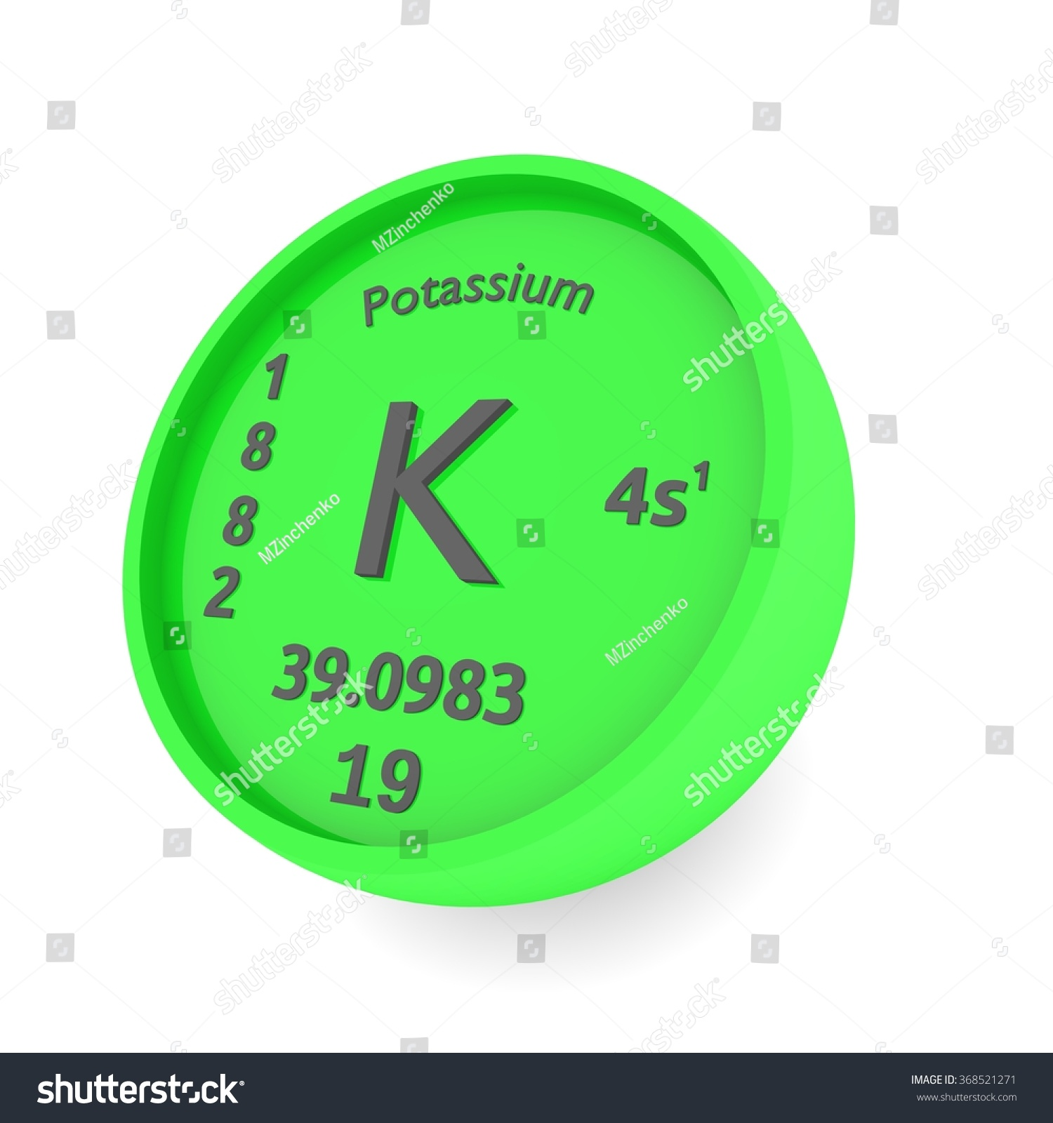 Potassium chemical element sign periodic table stock illustration potassium chemical element sign in periodic table gamestrikefo Gallery