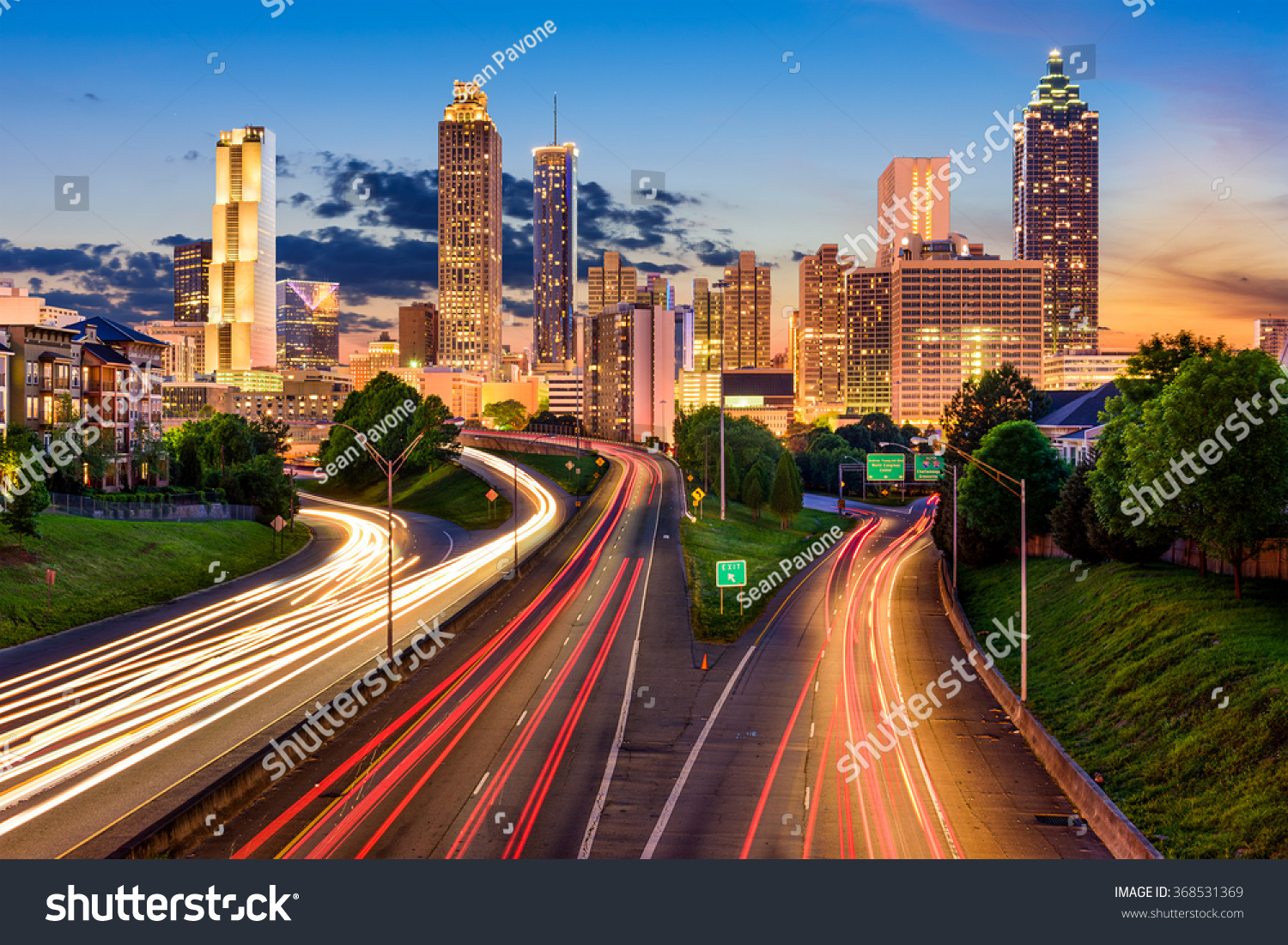 atlanta georgia usa downtown city skyline stock photo 368531369 shutterstock. Black Bedroom Furniture Sets. Home Design Ideas