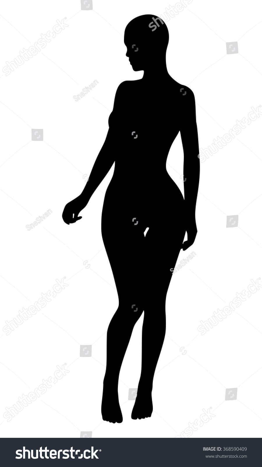 sexy woman silhouette stock vector 368590409   shutterstock