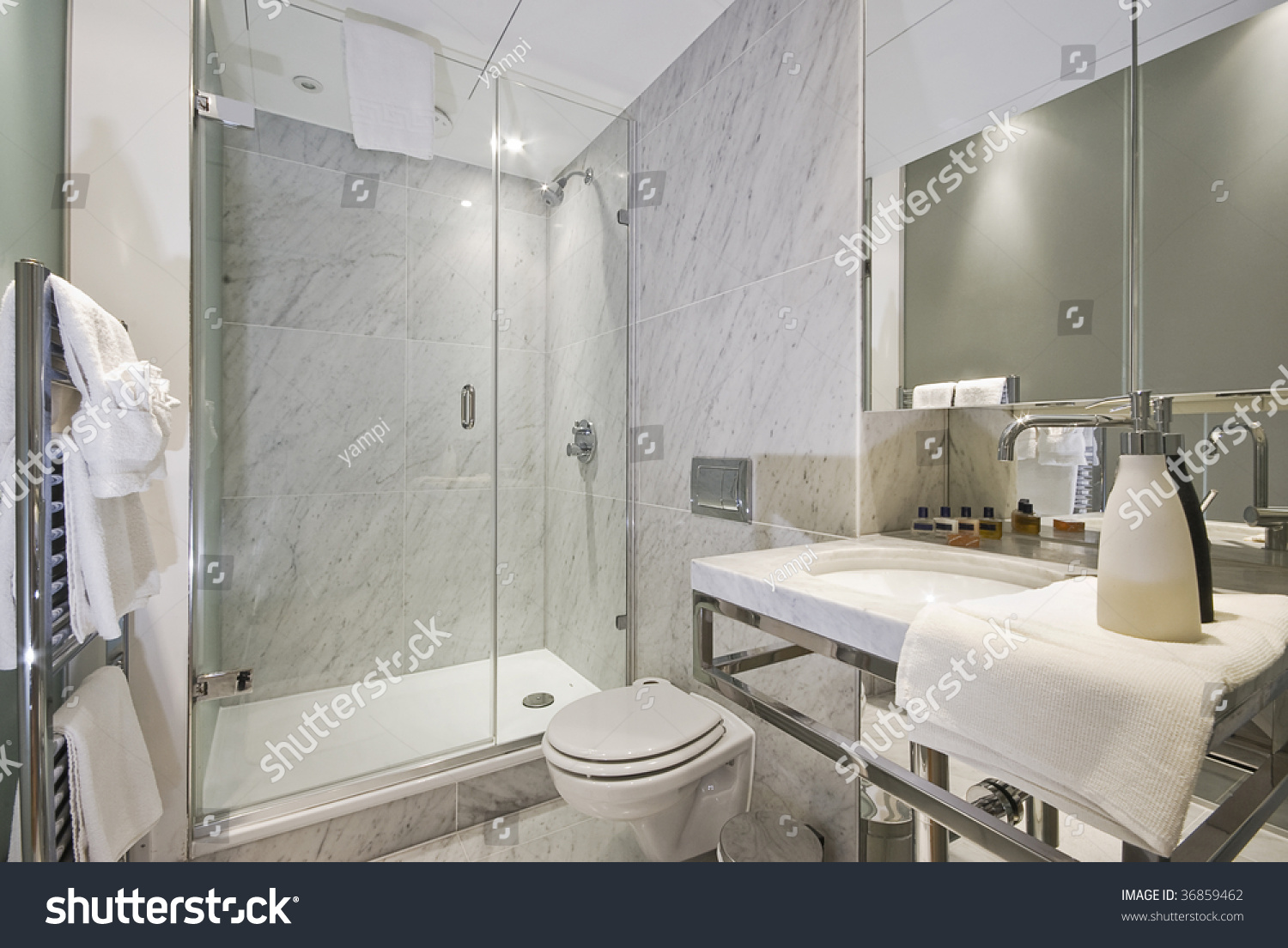 Luxury Contemporary Suite Bathroom Marble Stock Photo 36859462 Shutterstock