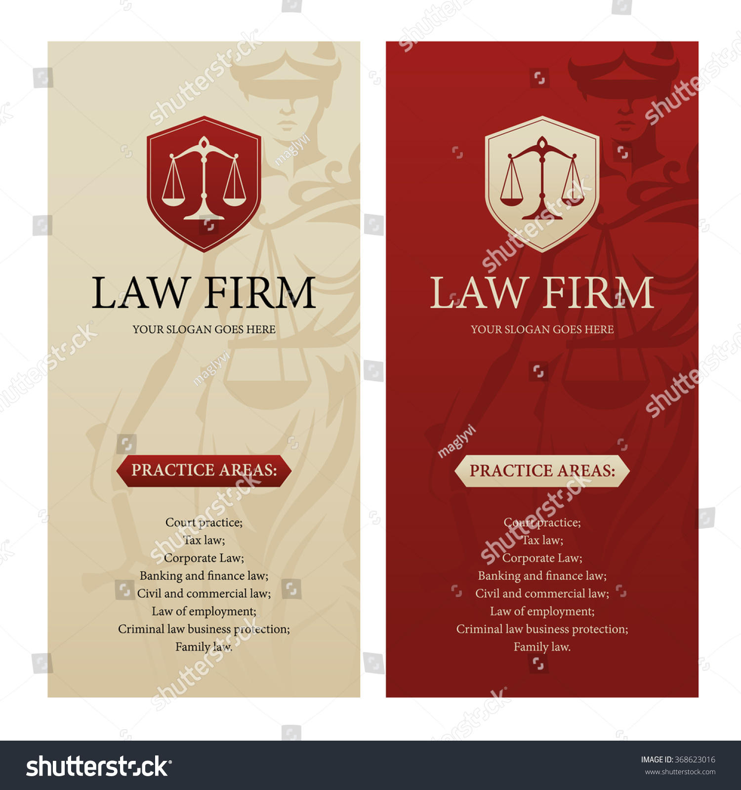 Vertical design template law office firm stock vector for Law firm brochure template