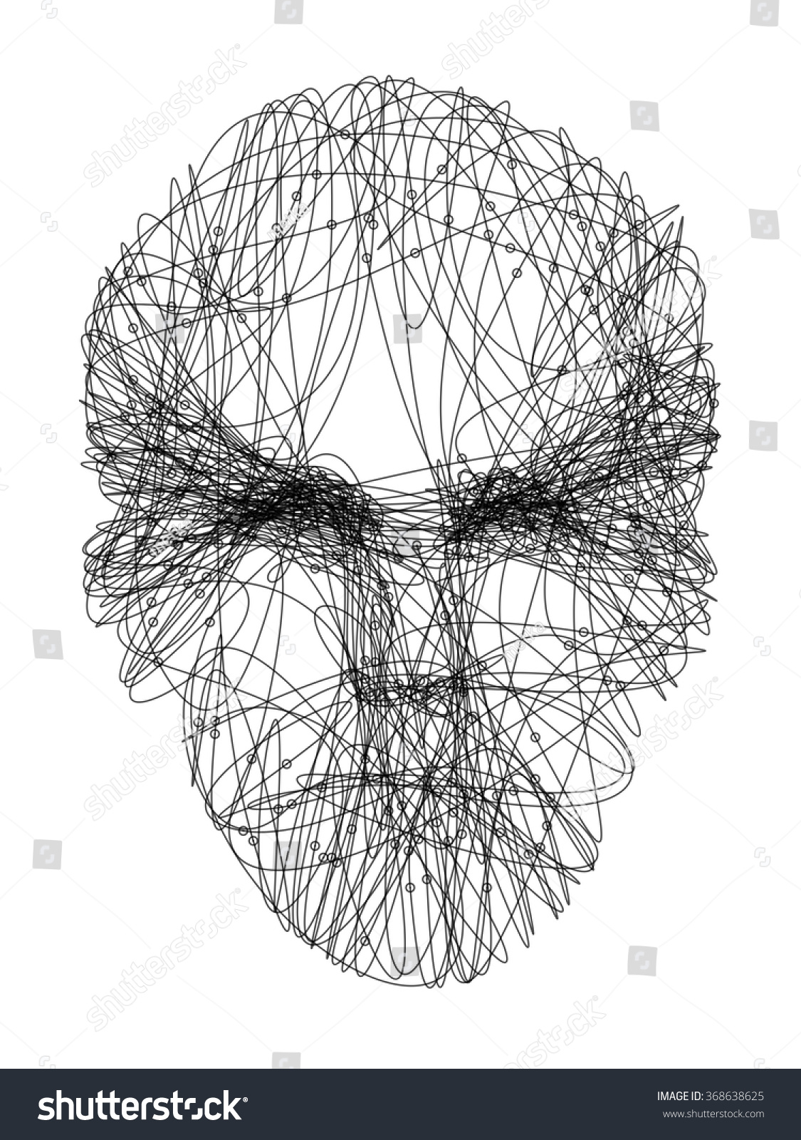 Man S Face Line Drawing : Line drawing representing young mans face stock vector