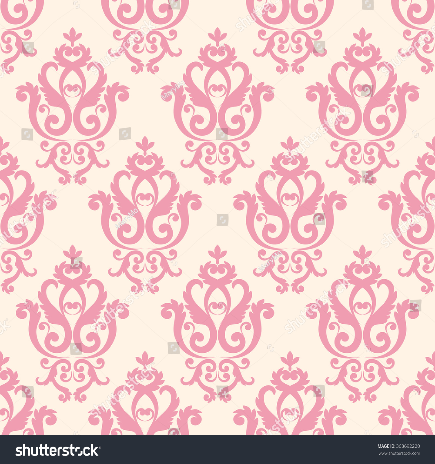 Pink And White Texture In Vintage Royal Wallpaper