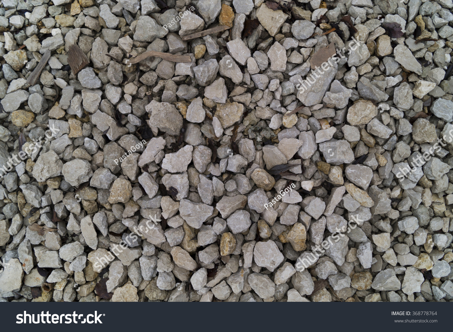 Many types of gravel pebbles for texture background
