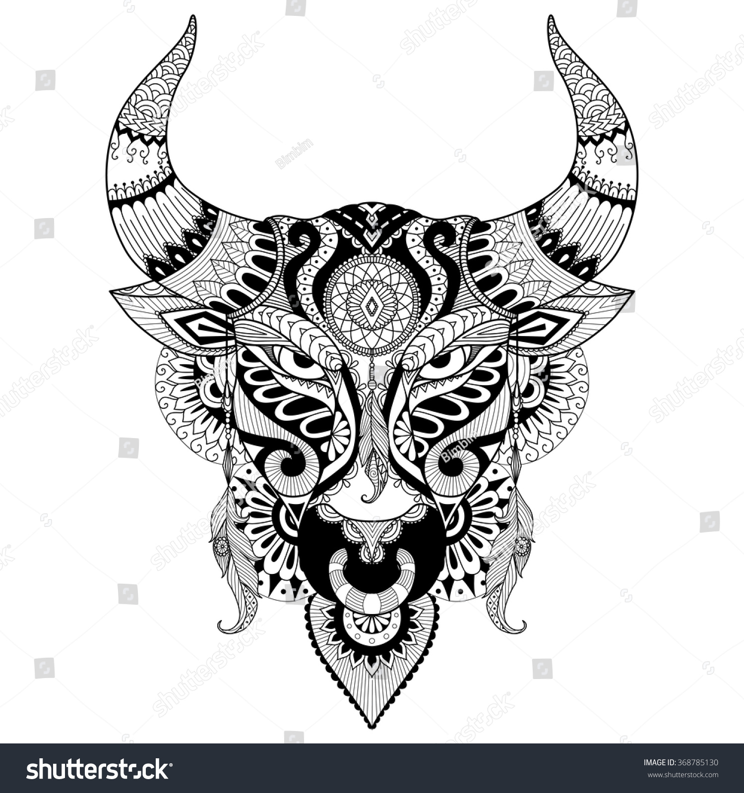 Bull Head Coloring Pages Galleryhipcom The Hippest