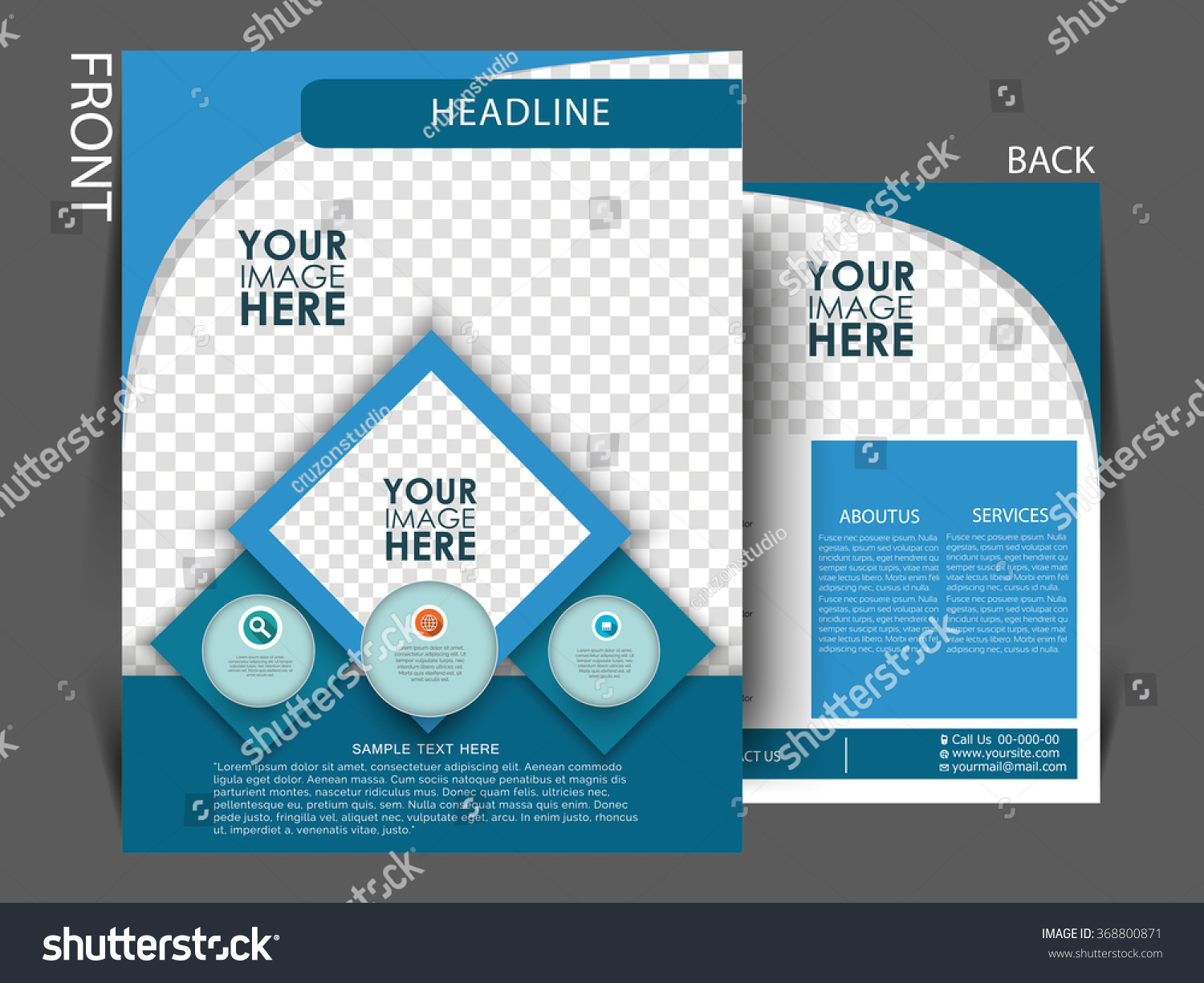 vector illustration corporate flyer brochure magazine stock vector