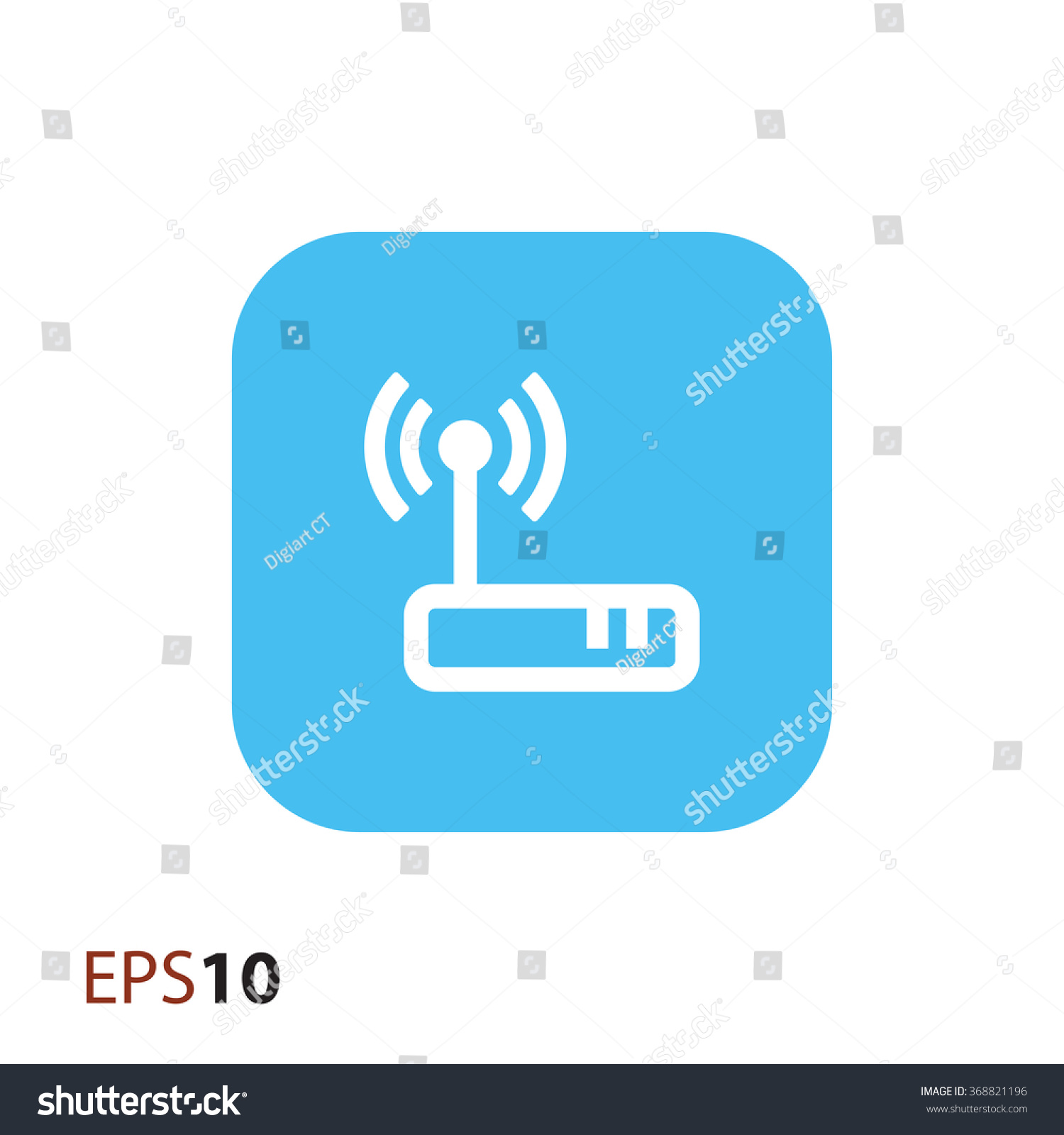 Wireless Modem Icon Web Stock Vector Royalty Free 368821196 Diagram For