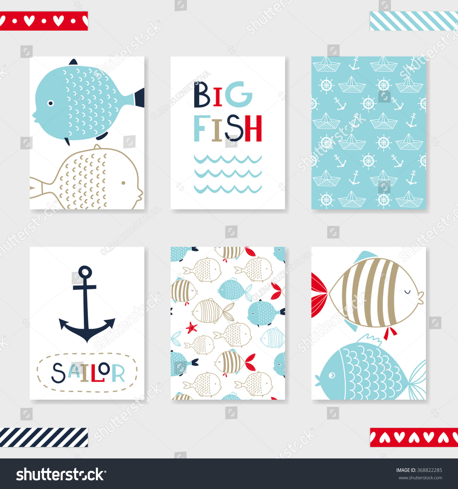 6 Birthday Card Templates: Set 6 Cute Creative Cards Templates ���วกเตอร์สต็อก