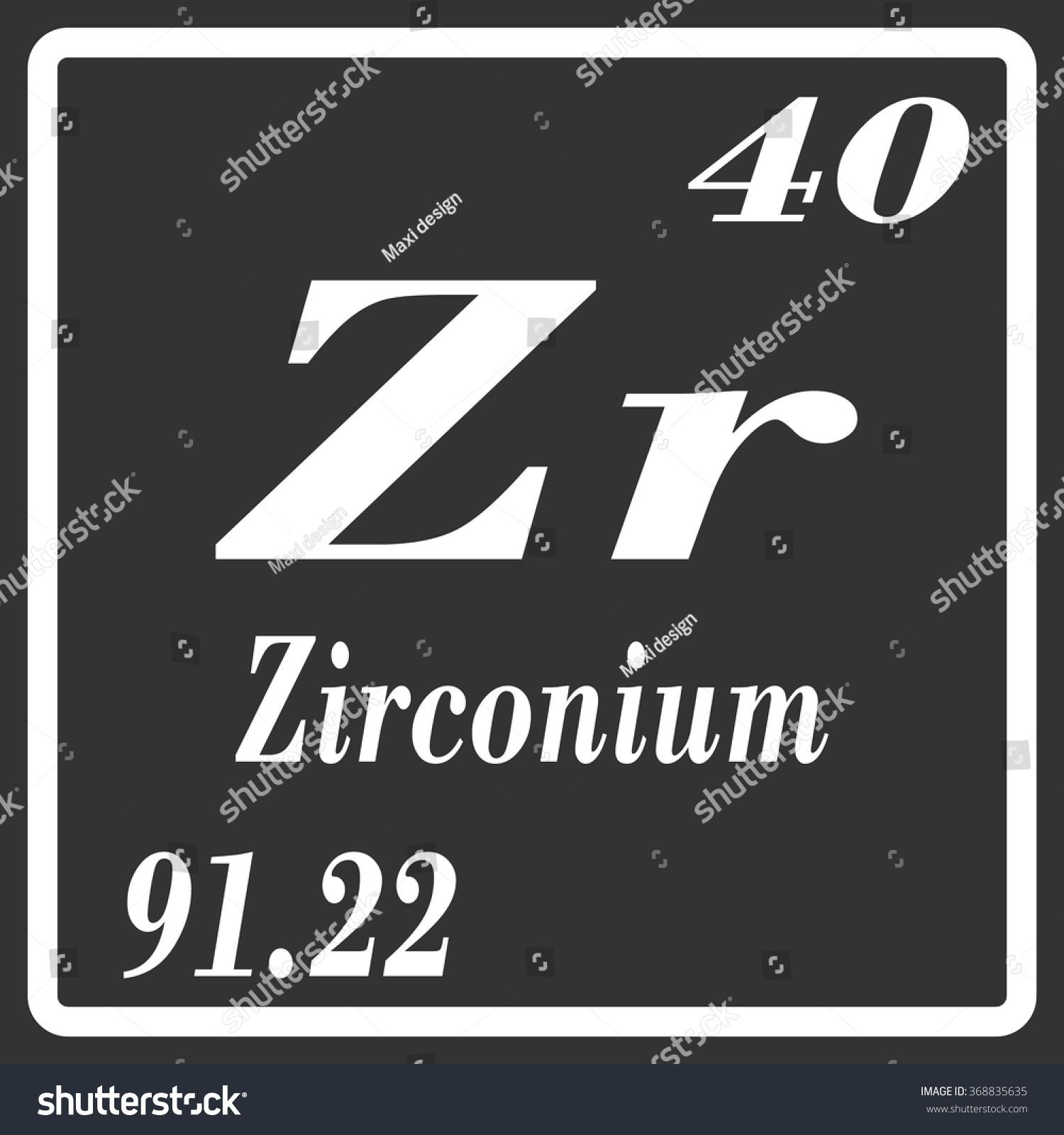 Periodic table elements zirconium stock vector 368835635 periodic table of elements zirconium urtaz Gallery