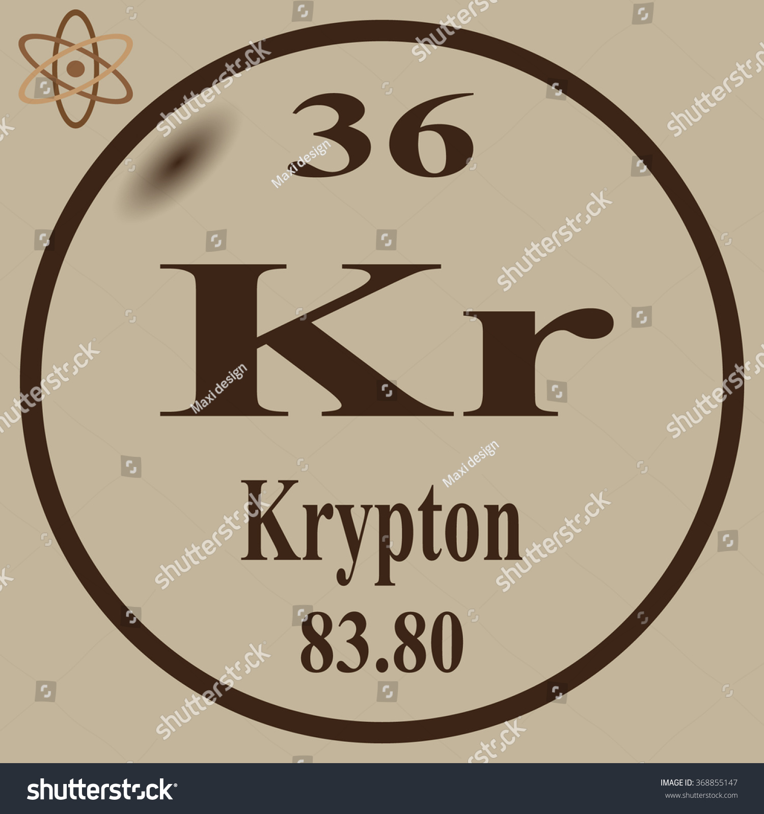 Periodic table elements krypton stock photo photo vector periodic table of elements krypton urtaz