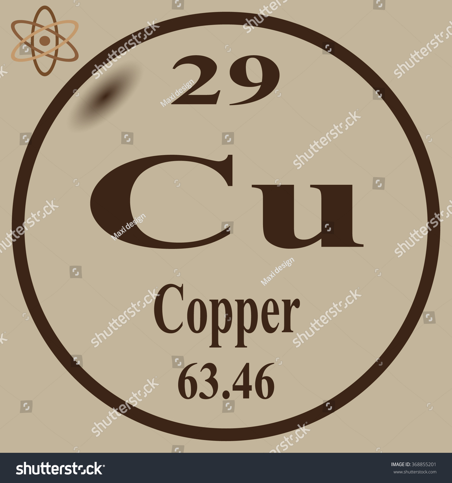 Periodic table elements copper stock vector 368855201 shutterstock periodic table of elements copper gamestrikefo Choice Image
