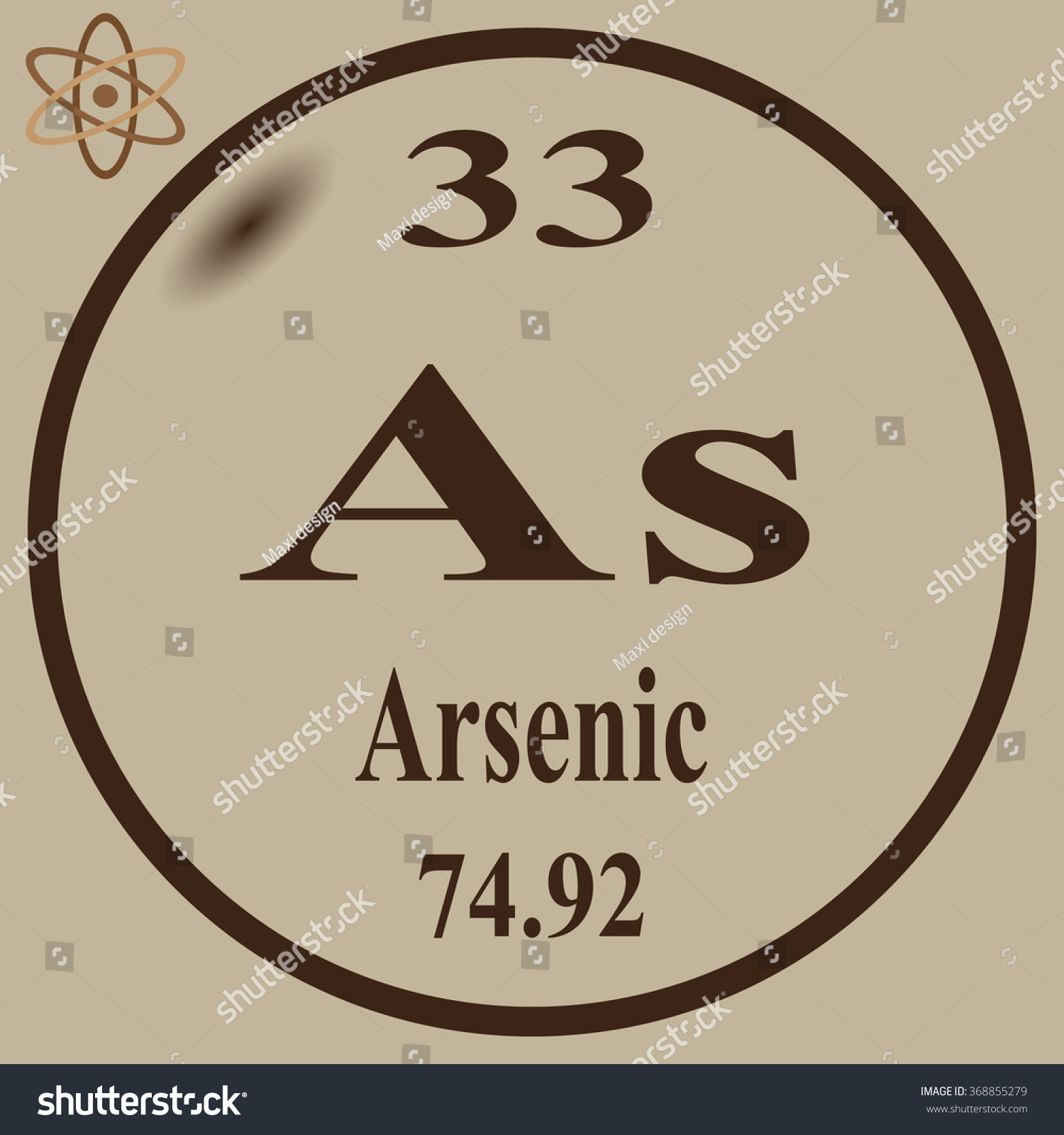Periodic table elements arsenic stock vector 368855279 shutterstock periodic table of elements arsenic biocorpaavc Image collections