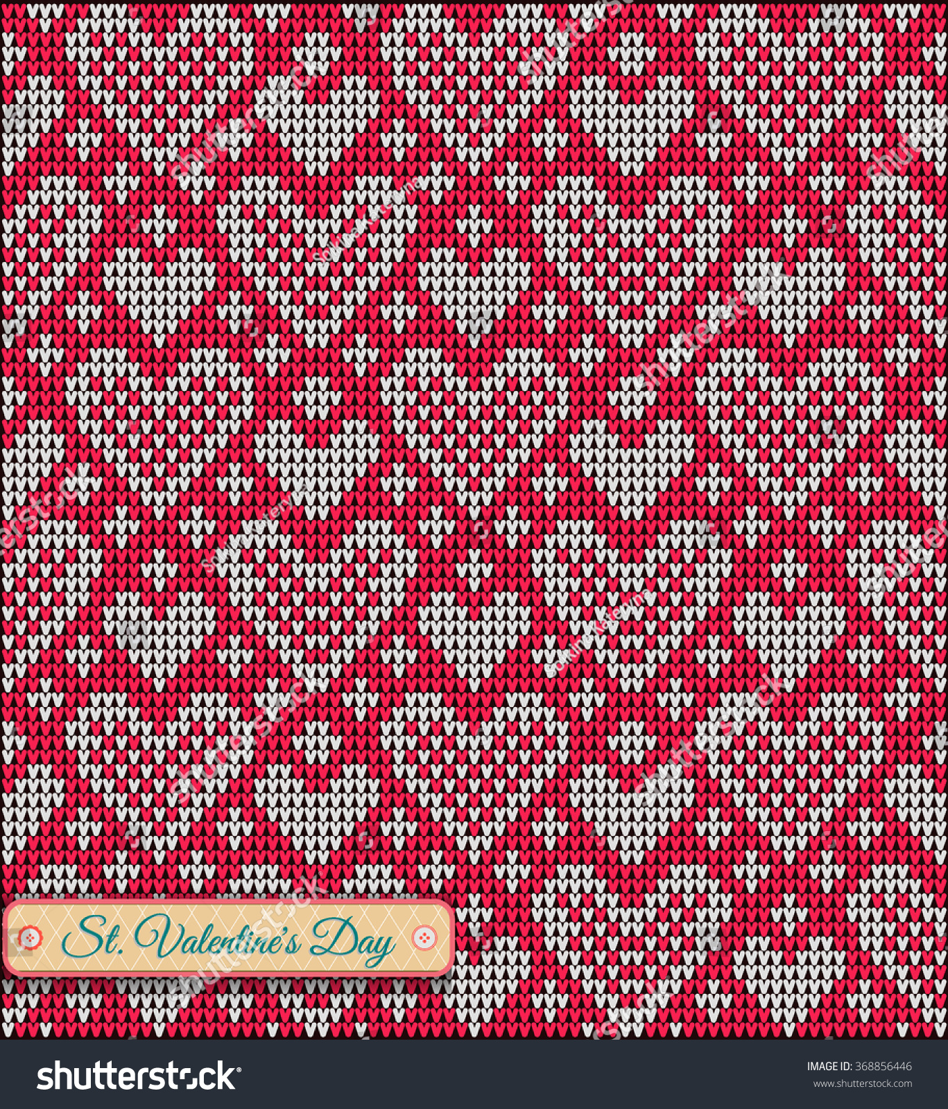 Classic Knitted Pattern Hearts Valentines Day Stock Photo (Photo ...