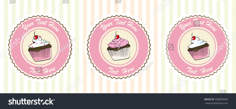 cupcake vectorsweet candypost carddessert menubakery logoprint cupcake vector sweet and candy post card dessert menu bakery logo