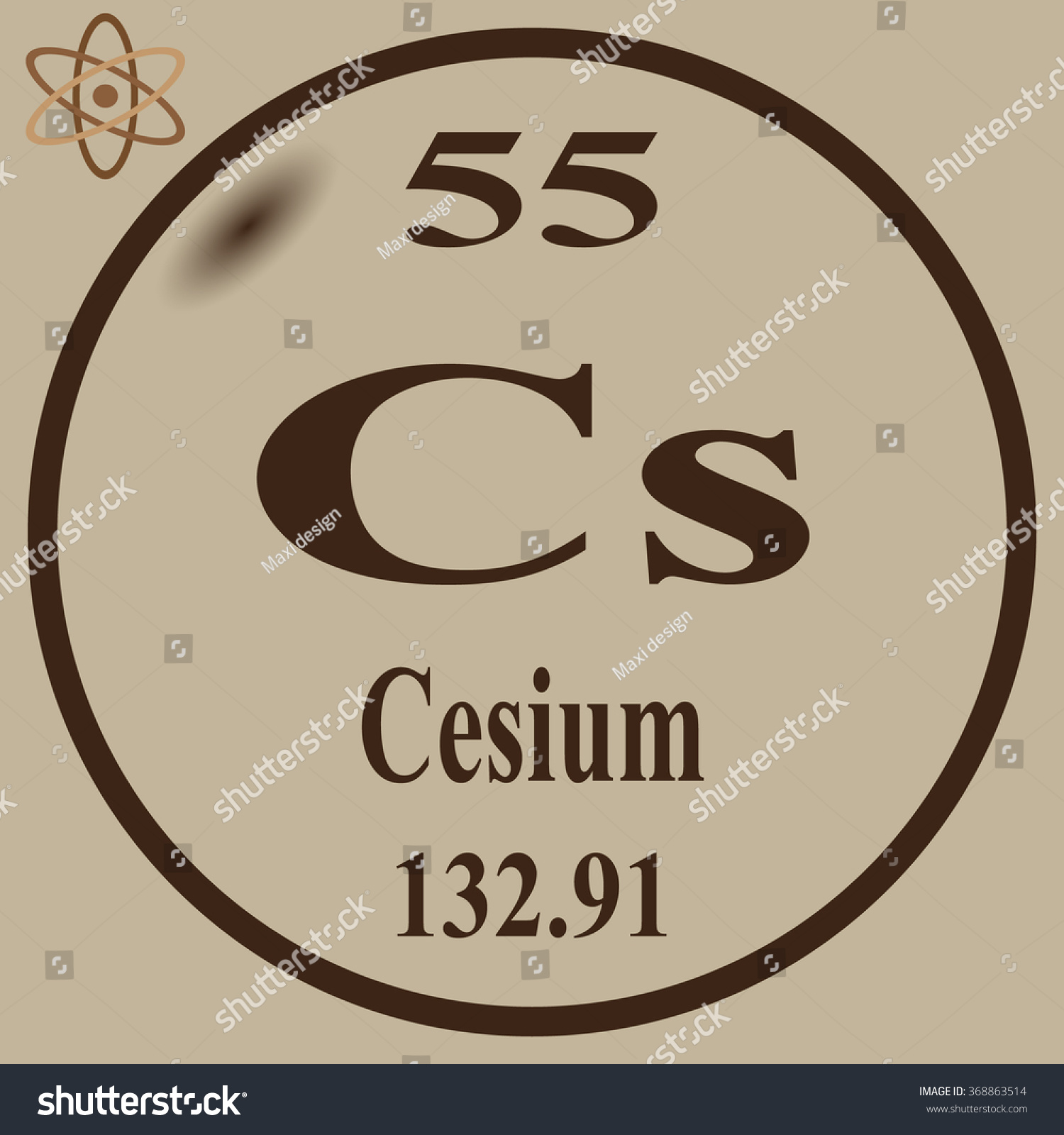 Cesium in periodic table gallery periodic table images periodic table elements cesium stock vector 368863514 shutterstock periodic table of elements cesium gamestrikefo gallery gamestrikefo Image collections