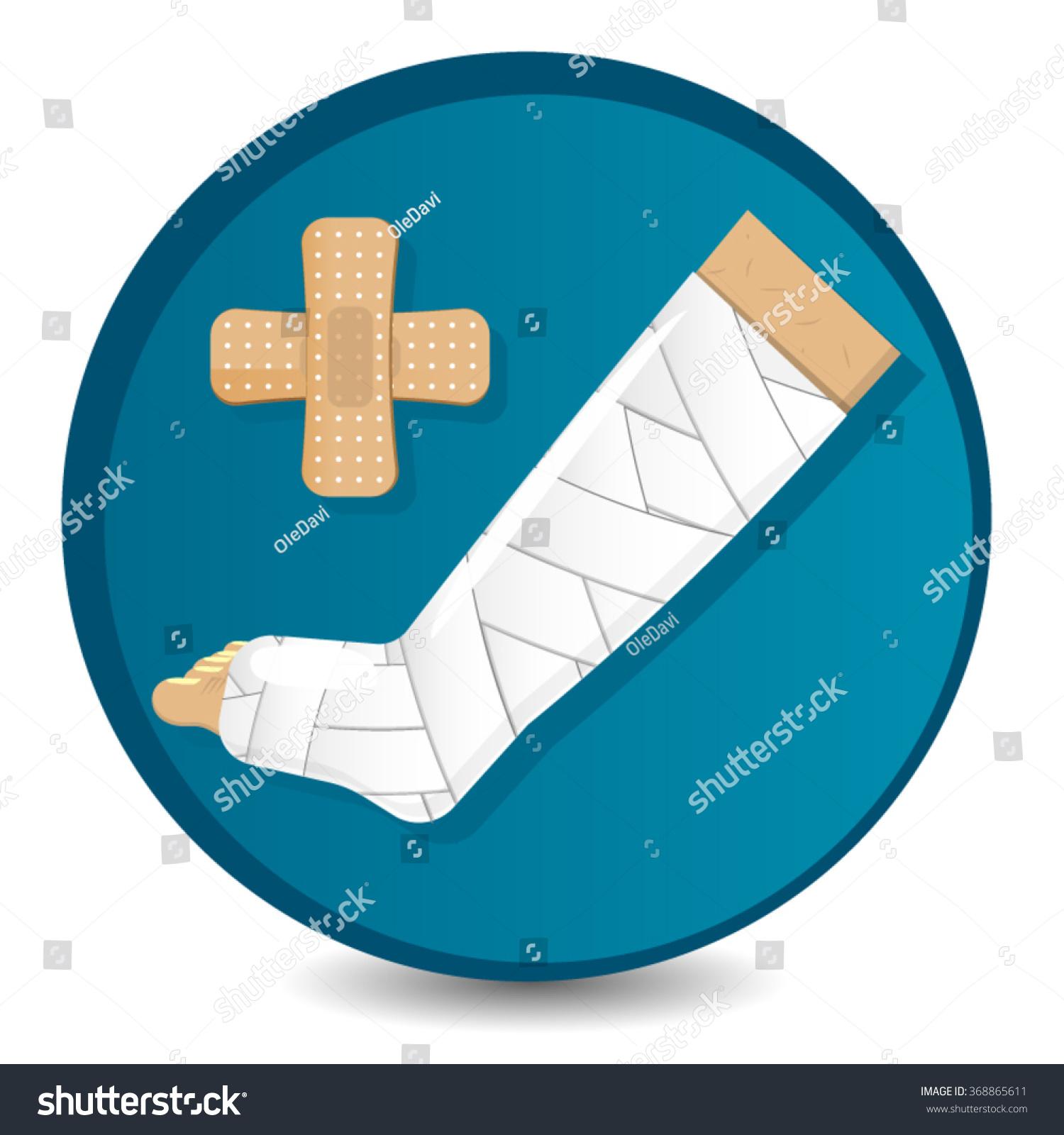 Medical Symbol Circle Shape Designation Injury Stock Vector Royalty
