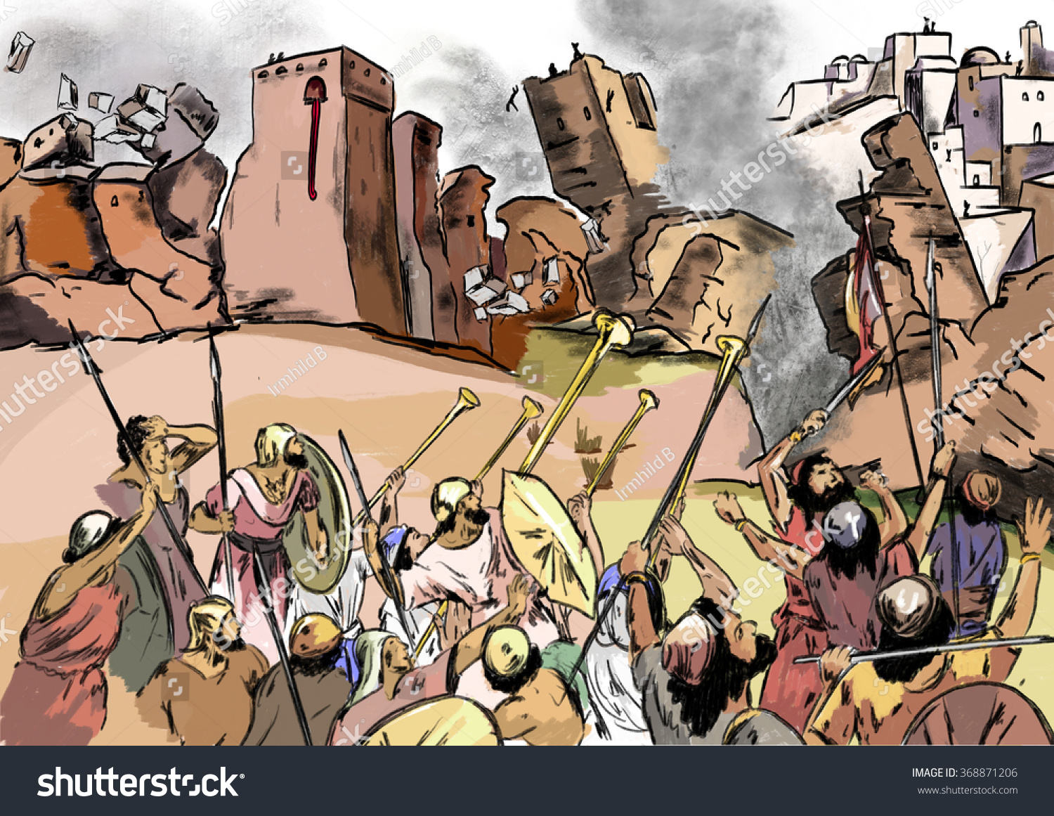 """proving the battle of jericho Children's article on archaeological discoveries about the ancient city of jericho proving that """"the wall the destruction of the walls of jericho."""