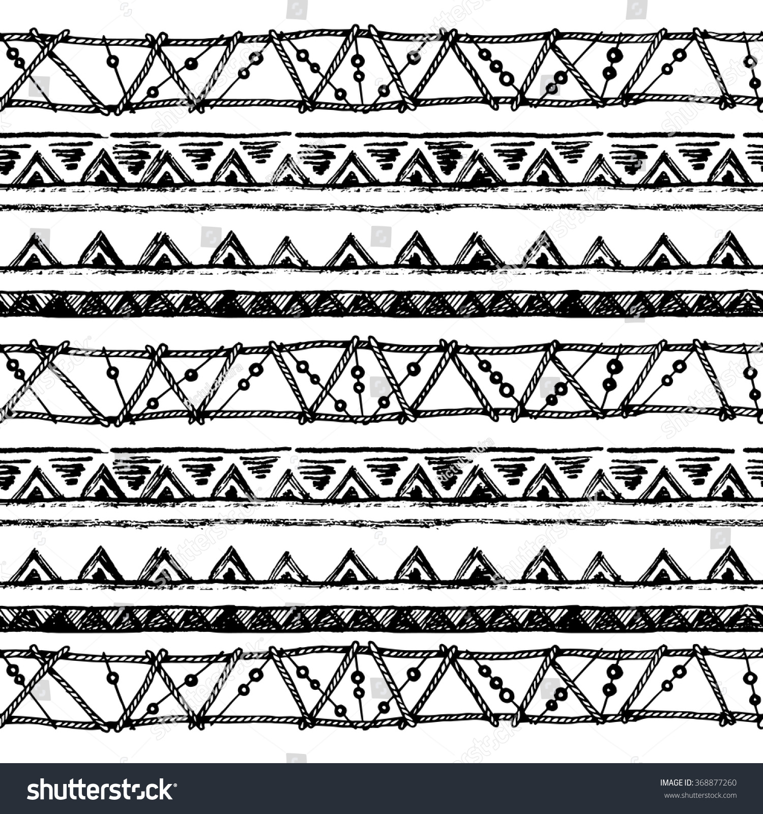 e9deb4255 Ethnic seamless pattern in native style. Tribal vector seamless pattern  with native American Indian symbols.