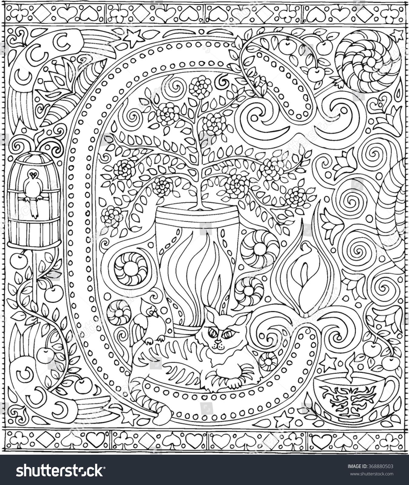 zen coloring nature pages - photo#25