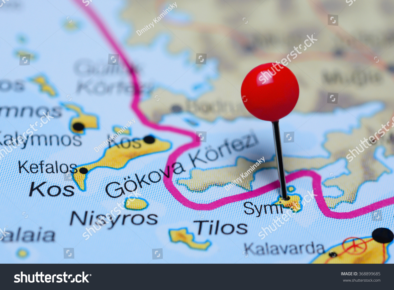 Symi Pinned On Map Greece Stock Photo 368899685 Shutterstock