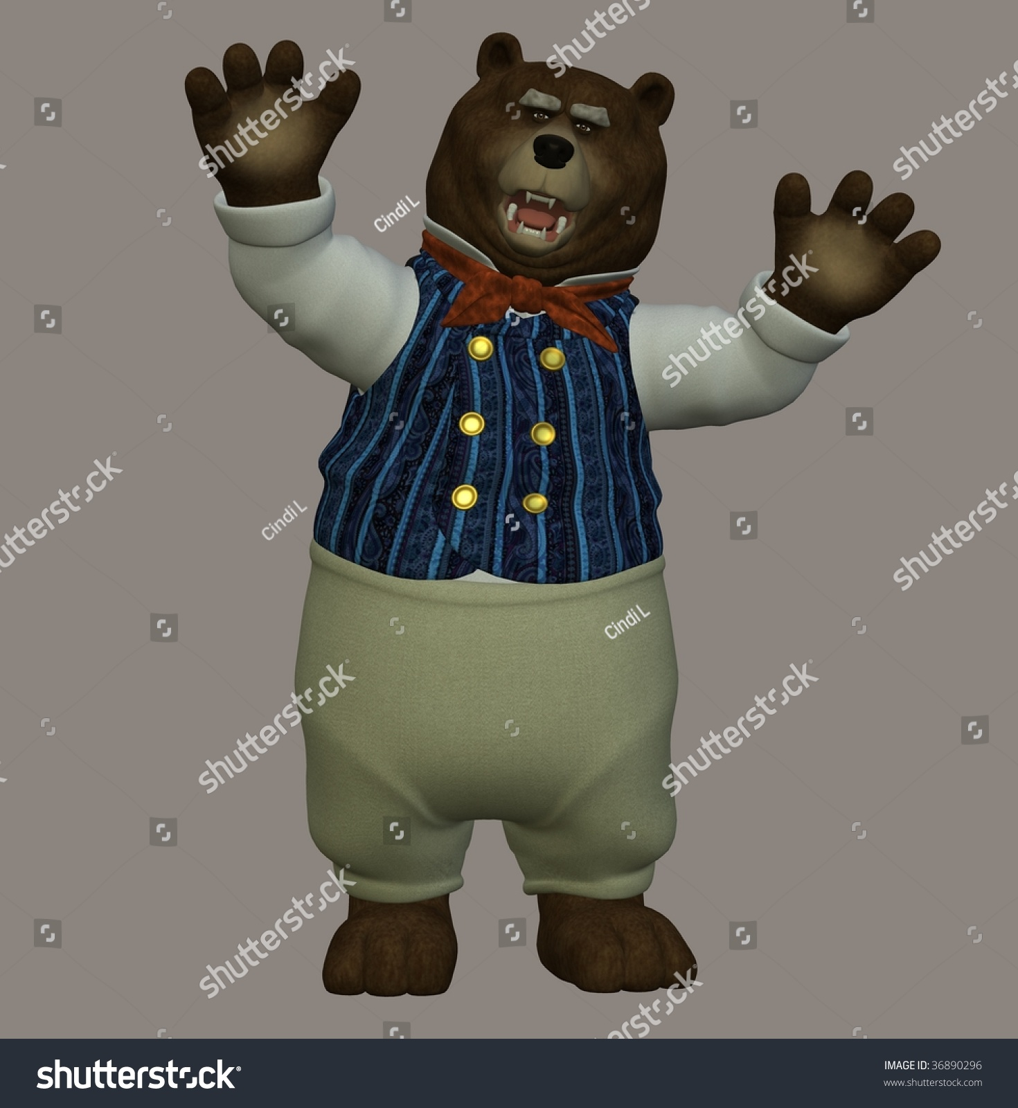 papa bear nursery rhyme three bears stock illustration 36890296